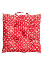 Galette de chaise en coton - Rouge - Home All | H&M FR 1